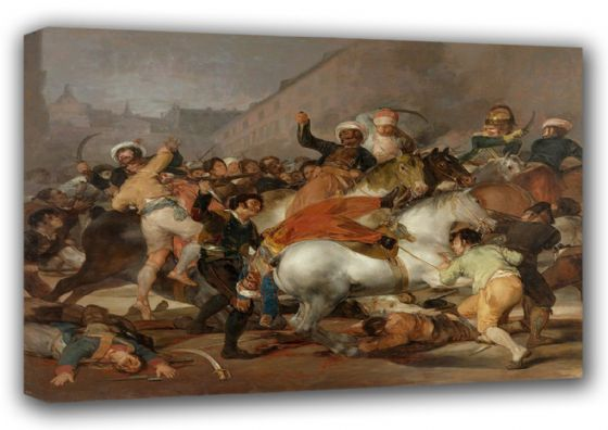 Goya, Francisco de: The Second of May 1808 or The Charge of the Mamelukes.. Fine Art Canvas. Sizes: A3/A2/A1. (00596)